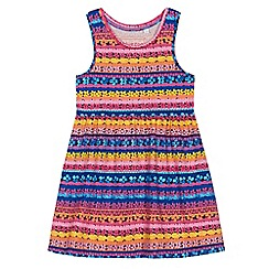 bluezoo - Girls' multi-coloured floral striped dress
