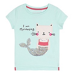 bluezoo - Girls' aqua 'Mermazing' t-shirt