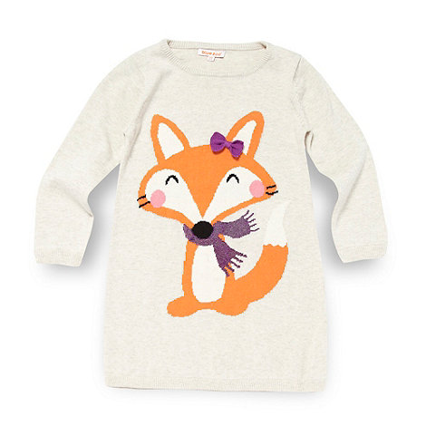 bluezoo - Girl+s natural fox knit jumper