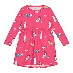 bluezoo - Girls' pink bunny print dress