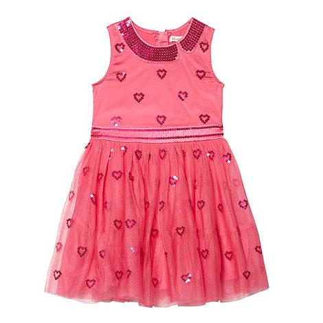 bluezoo - Girl+s pink sequin mesh dress