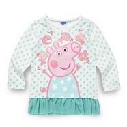 Girl's white spotted 'Peppa Pig' top