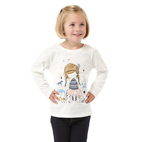 bluezoo - Girl+s cream girl t-shirt