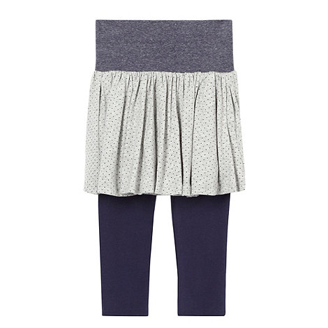 bluezoo - Girl+s navy jersey skirt and leggings set