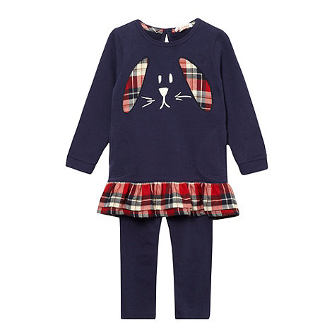 bluezoo - Girl+s navy rabbit t-shirt and leggings