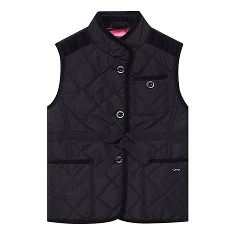 J by Jasper Conran - Girl+s navy quilted gilet