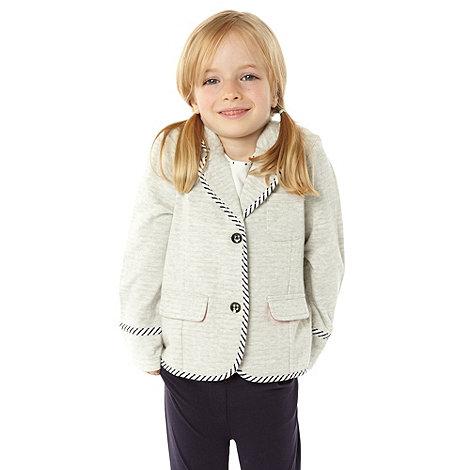 J by Jasper Conran - Designer girl+s grey sweat blazer