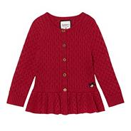 Girl's peplum cardigan