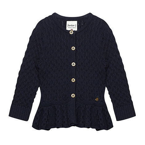 J by Jasper Conran - Girl+s navy peplum cardigan