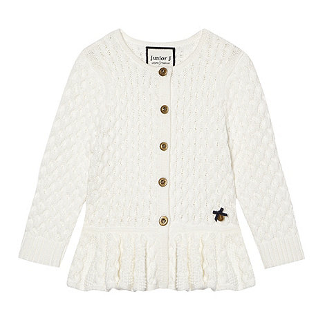 J by Jasper Conran - Girl+s white peplum cardigan