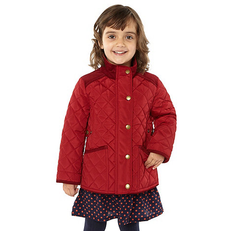 J by Jasper Conran - Girl+s red quilted riding jacket