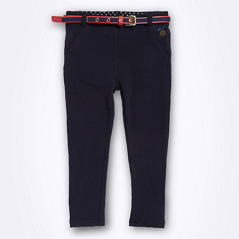 J by Jasper Conran - Designer girl's navy belted leggings
