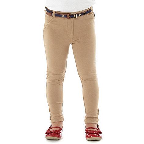 J by Jasper Conran - Designer girl+s natural belted leggings