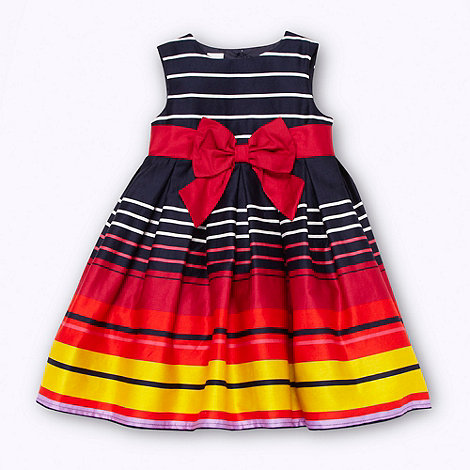 J by Jasper Conran - Designer girl+s navy graduating striped party dress