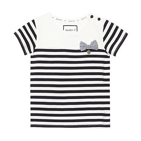 J by Jasper Conran - Designer girl+s navy striped t-shirt
