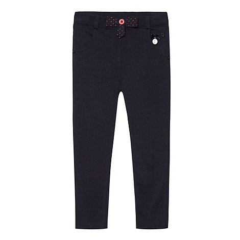 J by Jasper Conran - Designer girl+s navy bow jeggings