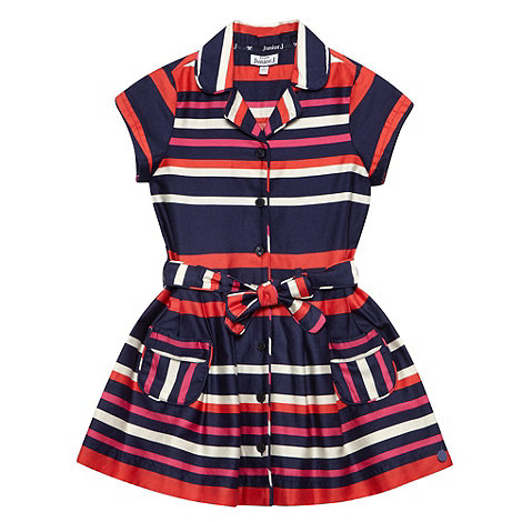J by Jasper Conran - Designer girl+s navy striped shirt dress