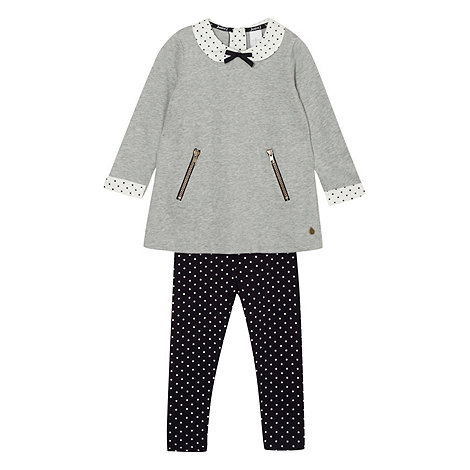 J by Jasper Conran - Designer girl+s grey spotted collar tunic and leggings