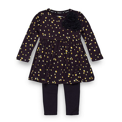 J by Jasper Conran - Designer girl+s navy floral jersey tunic and leggings set