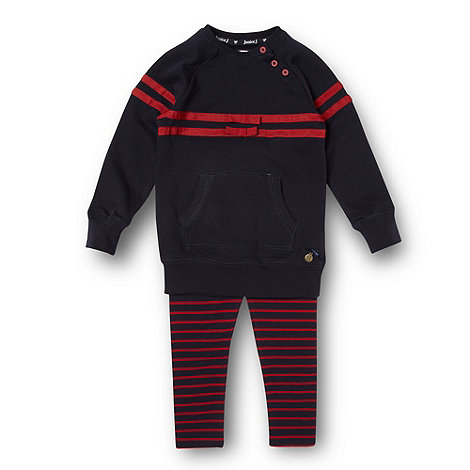 J by Jasper Conran - Designer girl+s navy sweatshirt and leggings