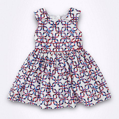 J by Jasper Conran - Designer girl+s white square patterned party dress
