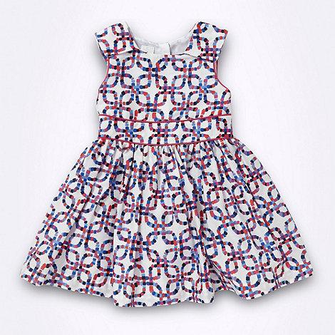 J by Jasper Conran - Designer girl+s white square patterned party dress