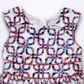 J by Jasper Conran - Designer girl+s white square patterned party dress Alternative 2