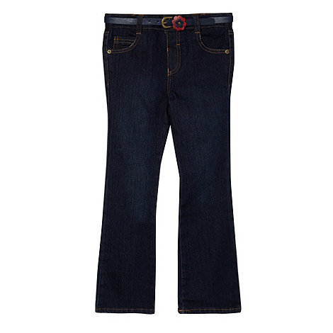 J by Jasper Conran - Designer girl+s blue jeans and belt