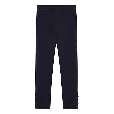 J by Jasper Conran - Girl+s navy cable leggings