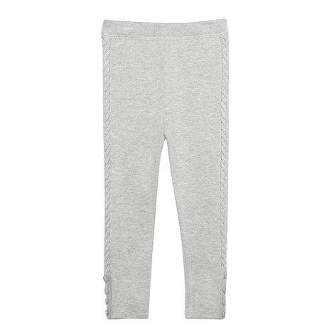 J by Jasper Conran - Girl+s grey cable leggings