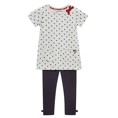 J by Jasper Conran - Girl+s grey daisy tunic and leggings set