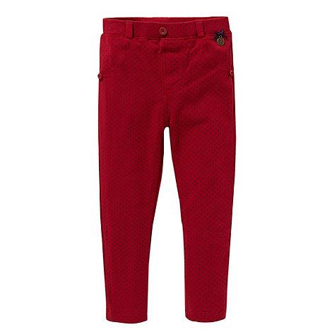 J by Jasper Conran - Designer girl+s red spotted leggings