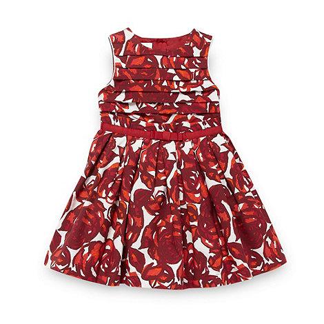 J by Jasper Conran - Designer girl+s dark pink floral party dress