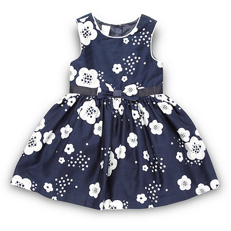 J by Jasper Conran - Designer girl's navy daisy floral dress