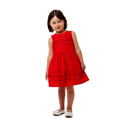 J by Jasper Conran - Designer girl+s red ribbon striped dress