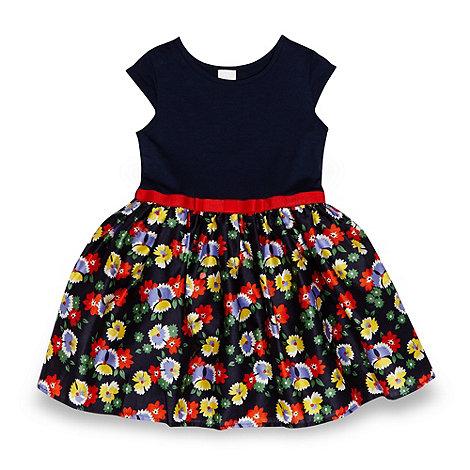 J by Jasper Conran - Designer girl+s navy floral skirt dress
