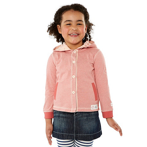 Mantaray - Girl+s pink striped jersey hoodie