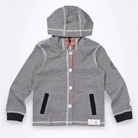 Mantaray - Boy+s navy striped jersey hoodie