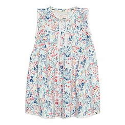Mantaray - Girls' off white floral print dress
