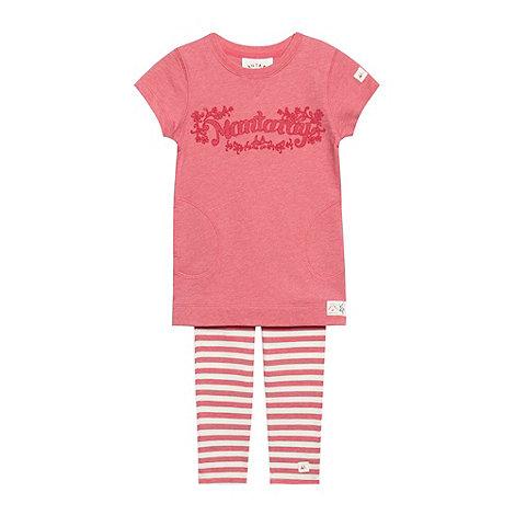 Mantaray - Girl+s pink sweat tunic and leggings set