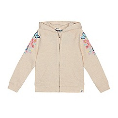 Mantaray - Girls' cream embroidered hoodie