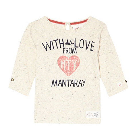 Mantaray - Girl's off white printed tee