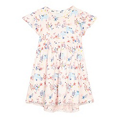 Mantaray - Girls' pink elephant print dress