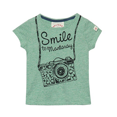 Mantaray - Girl+s green +Smile+ printed top