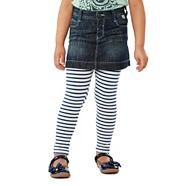 Girl's blue denim skirt and leggings set