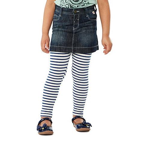 Mantaray - Girl+s blue denim skirt and leggings set