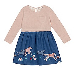Mantaray - Girls' pink horse applique dress