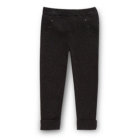 Mantaray - Girl+s dark grey ribbed leggings