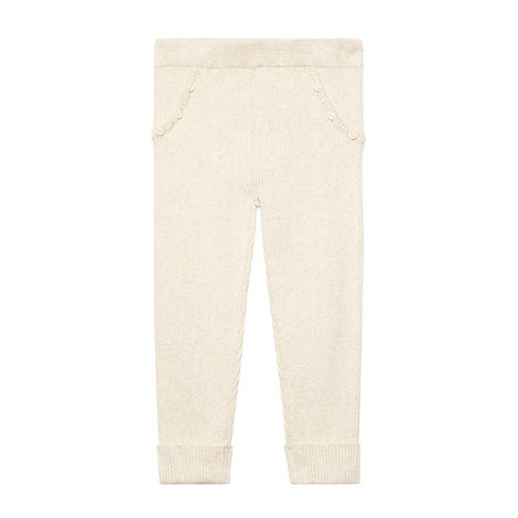 Mantaray - Girl+s off white knitted leggings