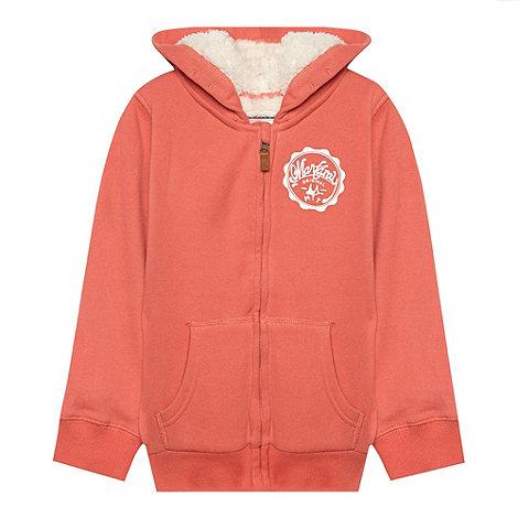 Mantaray - Girl+s peach logo hoodie